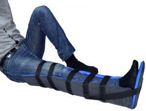 Une gouttière pour jambe