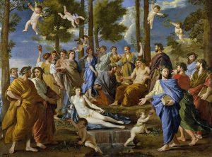 """""""Apollon et les Muses"""", un tableau du peintre français Nicolas Poussin (1631~1632)"""
