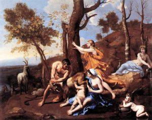 """""""L'enfance de Jupiter"""" : un tableau du peintre français Nicolas Poussin (1635-1637)"""