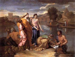 """""""Moïse sauvé des eaux"""" : un tableau du peintre français Nicolas Poussin (1638)"""