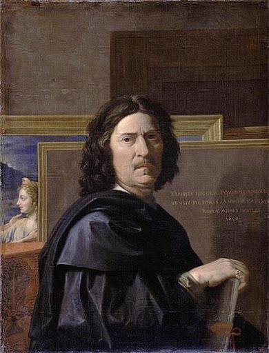 Le peintre français Nicolas Poussin : autoportrait (1650)