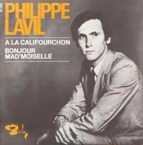 """""""À la califourchon"""", le premier 45 tours du chanteur français Philippe Lavil, enregistré en 1969"""