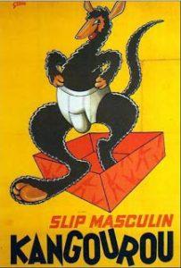 Publicité ancienne pour le slip kangourou