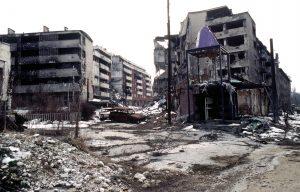 Sarajevo ravagée durant la guerre civile