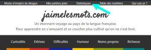 Les statistiques de jaimelesmots.com