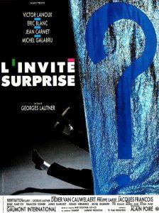 """Affiche du film français """"L'invité surprise"""", de Georges Lautner (1988)"""