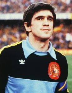 Le gardien de but espagnol Luis Arconada