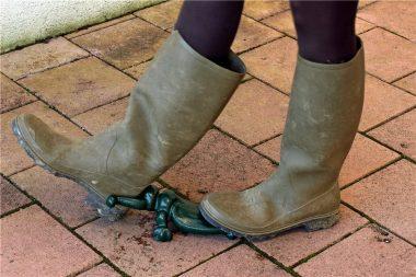 """""""Au débotté"""", c'est à dire, au sens propre : lorsque l'on retire ses bottes"""
