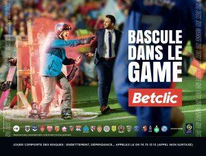 """Affiche """"Bascule dans le game"""" de la campagne Betclic de mars 2021"""