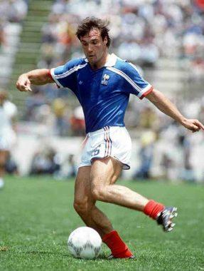 Le joueur de football international français Bruno Bellone