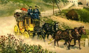 Une diligence suisse, au XIXe siècle
