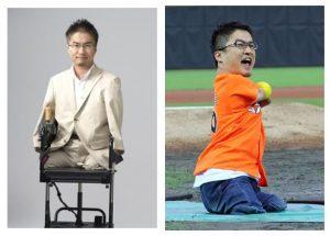 l'auteur journaliste sportif japonais Hirotada Ototake, porteur du syndrome tétra Amélie