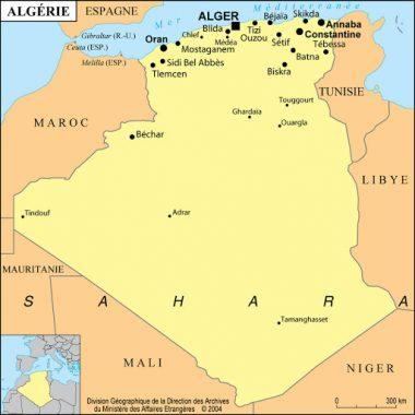 Localisation de la ville de Béchar (Algérie)