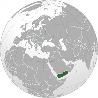 Localisation du Yémen