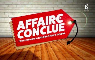 """Logotype de l'émission """"Affaire conclue"""", présentée par Sophie Davant, sur la chaîne de télévision publique française France 2"""
