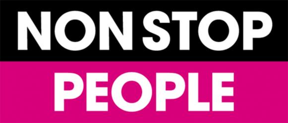 """Logotype de la chaîne de télévision française """"Non stop people"""""""