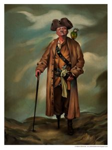 Le pirate Long John Silver dessiné par Alberto Belmonte (© Alberto Belmonte)
