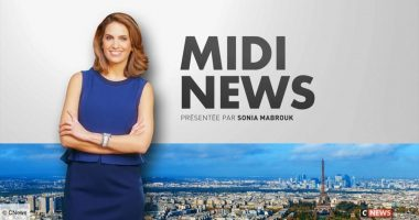 """L'émission """"Midi News"""" sur la chaîne de télévision française d'information en continu CNews (© CNews)"""