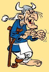 """Le pirate Triple-patte caricaturé par Albert Uderzo dans """"Astérix"""", à partir de 1962, d'après le personnage de la série belge """"Barbe Rouge, le pirate des Caraïbes"""", créé en 1958 par Victor Hubinon et Jean-Michel Charlier"""