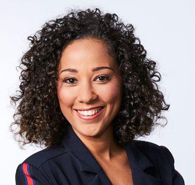 La journaliste française Virginie Sainsily