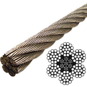 Un câble métallique vu en coupe