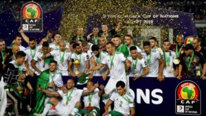 """2019 : """"Les fennecs"""" - c'est à dire l'équipe d'Algérie de football - remportent leur deuxième CAN (Coupe d'Afrique des Nations)"""