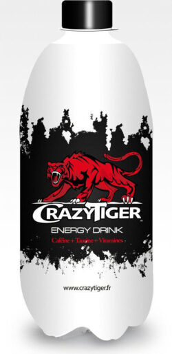 La marque française de boisson énergisante Crazy Tiger, créée en juin 2010 par la société MC Energy, à La Farlade (83)
