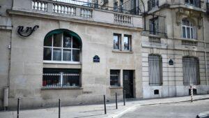 """Le siège des éditions Gallimard, 5 rue Gaston-Gallimard (ex rue """"Sébastien-Bottin, de 1929 à 2011), à Paris (75)"""
