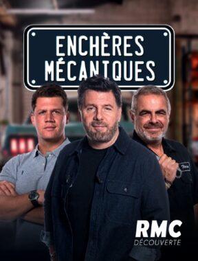 """Maxime Lepissier, Philippe Lellouche et Florian Meunier, dans l'émission """"Enchères mécaniques"""", diffusée sur RMC Découverte depuis le 16 mars 2021"""