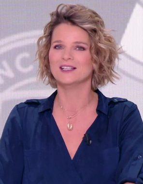 La journaliste sportive française France Pierron