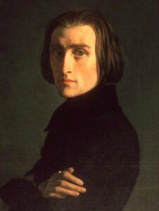 Le musicien hongrois Franz Lisztn, compositeur, transcripteur et pianiste virtuose (22 octobre 1811 - 31 juillet 1886), père de la technique pianistique moderne et du récital