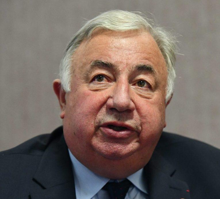 L'homme politique français, LR, Gérard Larcher, président du Sénat (© PHOTOPQR/LE BIEN PUBLIC/Philippe BRUCHOT)