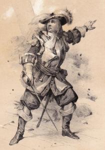 Le capitaine corsaire dunkerquois Jean Bart (21 octobre 1650 - 27 avril 1702), célèbre pour ses exploits au service de la France durant les guerres de Louis XIV