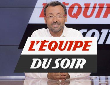 """""""L'Équipe du soir"""", l'émission sportive vespérale d'Olivier Ménard consacrée au football, sur la chaîne de télévision française L'Équipe"""