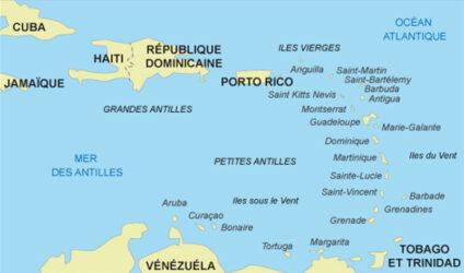 Localisation de l'île de Curaçao dans le monde