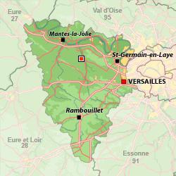 Localisation de la ville de Rambouillet, au Sud des Yvelines (78), dont Gérard Larcher, l'actuel président du Sénat, a été le maire de 2007 à 2014