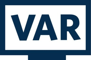Logotype de la VAR (Video assistant referee) : Arbitre assistant vidéo ou Assistance Vvidéo à l'arbitrage