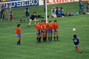 Le 27 juin 1984, en finale de l'Euro, le coup franc de Michel Platin qui vaudra au malheureux Luis Arconada de voir son patronyme entrer dans le lexique international du football...