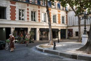 La place Furstenberg, dans le quartier de Saint-Germain-des-prés, à Paris (75)