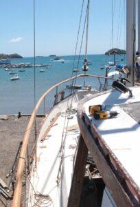 Une rambarde de bateau