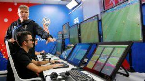 La VAR room de la FIFA durant la Coupe du Monde 2018 en Russie