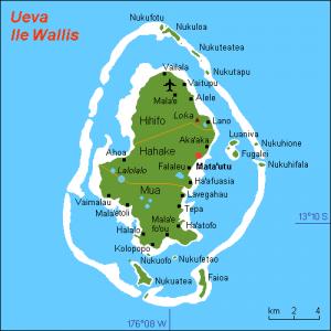 Carte de l'île Wallis ou Ouvea