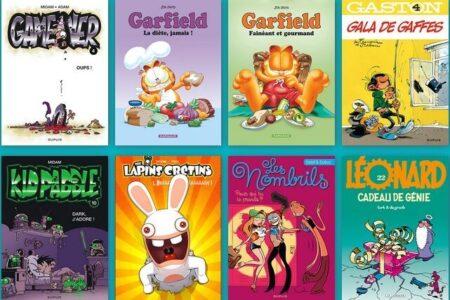 8 albums de bande dessinée jeunesse franco-belge