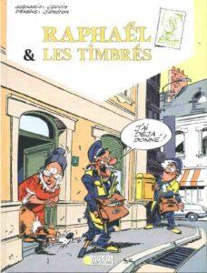 """""""J'ai déjà donné"""", premier album de la série """"Raphaël et les timbrés"""", créée en 1984 par Jacques Sandron et Raoul Cauvin dans le magazine """"Je bouquine"""" (1989)"""