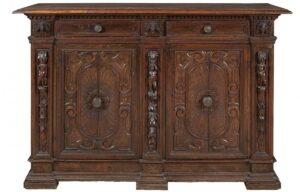 Une crédence italienne du XVIe siècle (© www.terre-meuble.fr)
