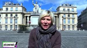 """La journaliste française Maïtena Biraben, dans l'émission """"Déconfinés !"""", lancée le 17 avril 2020, sur la chaîne de télévision publique française LCP-AN"""