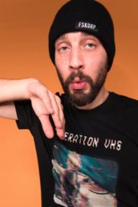 Le rappeur français Sébastien Gonzalez, alias Hippocampe fou ou Hippo