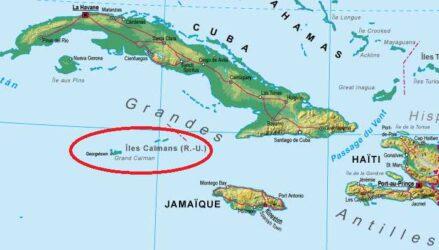 Localisation des îles Caïmans