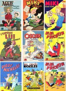 16 anciens albums souples de bande dessinée