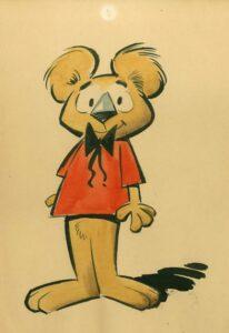 """Koala, de la série """"Hobby et Koala"""", créée en 1968 par Willy Lambil et Serge Gennaux"""